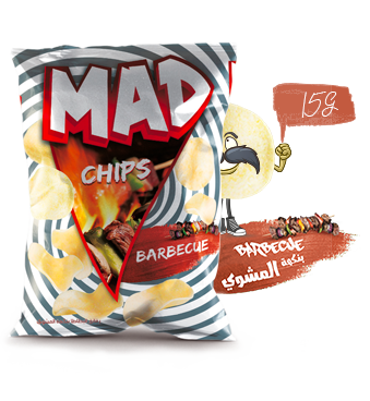 MAD CHIPS BARBECUE 15G