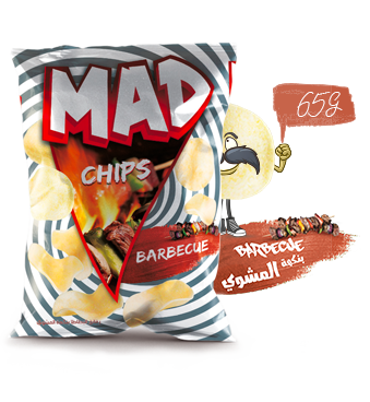 MAD CHIPS BARBECUE 65G
