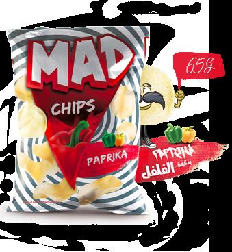 MAD CHIPS PAPRIKA 65G