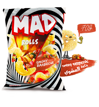 MAD ROLLS SMOKY BARBECUE 70G